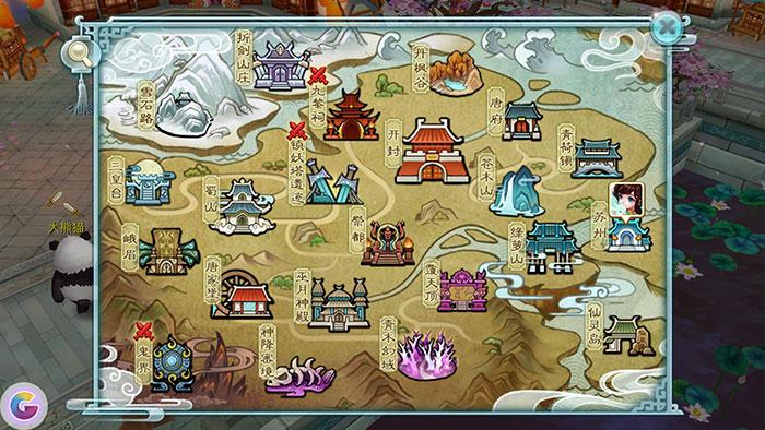 仙剑奇侠传3D回合手游地图
