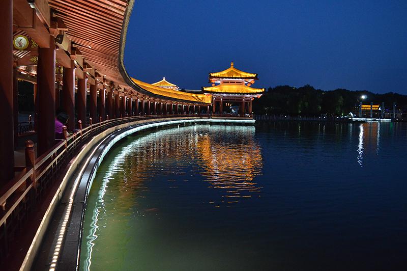 西安大唐芙蓉园夜景